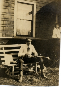 Hilary Sr and Epiphone Recording A -- ca 1929